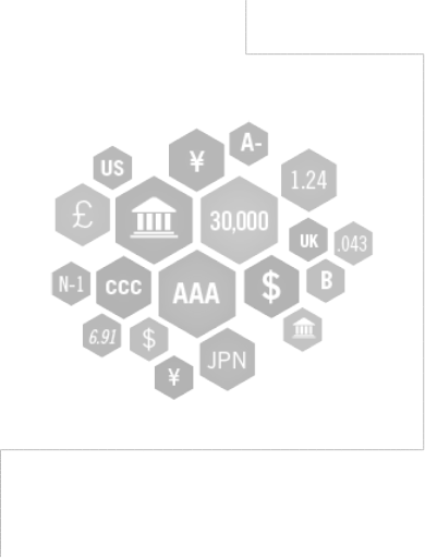picture of different symbols, letters, numbers and icons related to currency and finance